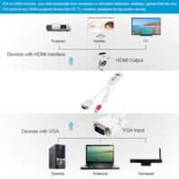 Wholesale ADEYU AY55 VGA To HDMI Converter Adapter P Video Input to Video Audio HD TV Monitors Output with USB Cable