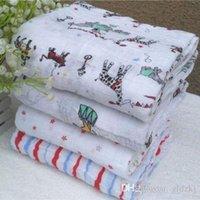 Wholesale 2016 CM Soft Muslin Cotton Blanket Newborn Baby Blanket Swaddle Bath Towel pieces