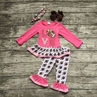 baby football tops - girls football outfit clothing baby girls love football clothes girls fall boutique outfits hot pink top with accessories