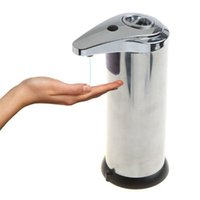 Wholesale 50pcs Sensor Soap Dispenser Stainless Steel Automatic Hands Free Wash Machine Portable Motion Activated w Stand jy373
