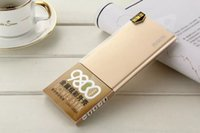 Wholesale power bank mAh popular colourful pocket power bank for smart phone OEM golden silver color