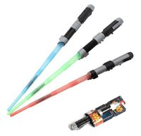 Wholesale Cosplay Toys Star Wars Weapon Lightsaber Light Saber Telescopic Star Wars Weapons Sword with Light Sounds PVC Action Figure Toys Free DHL