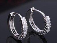 best hoop earings - YANTU Best Gift Stamped Silver Crystal Hoop Hies Earings for Women Men New Women Wedding Jewelry JE06254 YT