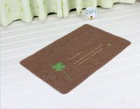 advertising rectangles - TPR thin embroidered door mat Computer embroidery carpets Advertising MATS