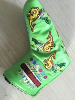Wholesale The Newest style green fish golf headcover pu leather putter golf headcover sale top quality club headcovers