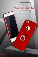 baby red skin - Hot Sale Phone Cases Slim design Plating Baby skin Full Wrap For Iphone s se s Hard Phone Case Cover With Ring Buckle