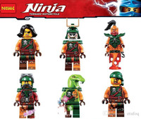 Wholesale 6pcs Ninjago Cyren Doubloon Nadakhan Flintlocke Clancee Bucko Blocks Minifigures Decool