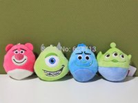 Wholesale 320pcs Sullivan Mike Wazowski Mini Plush Keychain Pendant Soft Stuffed Animals Plush Doll Toy cm