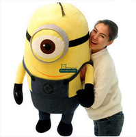baby stuff free shipping - Dorimytrader cm Giant Minions Gift Doll Toys Stuffed D Despicable ME Minion Toy Nice Baby Gift DY60111