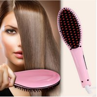 Wholesale Manufacturers selling straight hair comb artifact Negative ions powder straight artifact Straight iron liquid crystal display LCD
