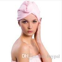 Wholesale New Microfiber Magic Hair Dry Turban Wrap Towel long haired ultrafine fiber dry hair hat dry Towel Shower cap RJ1681 dd