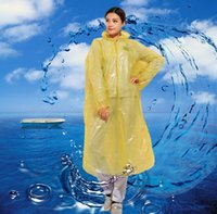 Wholesale Hooded men multicolor buttons translucent disposable raincoat outdoor raincoat waterproof raincoat Increased thickening sports