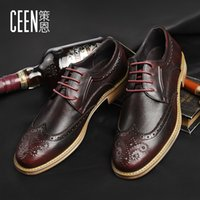 Wholesale Autumn Oxford Men s Shoes Brock Embossed Leather Shoes Comfortable Men s Business Casual Shoes CX0651