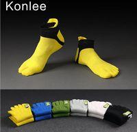 Wholesale Kolnee man Toe socks Pack NEW Men Antibacterial Breathable Short Tube Sports socks Shoe size US mm