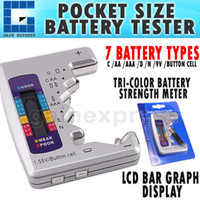 Wholesale 710 Hand Held Battery Tester C D N AA AAA V V Battery Tester