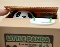automatic bank - New Arrive Panda Automatic Stole Coin Piggy Bank x9 x9cm Size Money Saving Box Moneybox Gifts for Kids