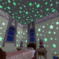 baby room green - 100Pcs Five Star Decal Baby Kids Gift Nursery Room Noctilucent Stars Home Wall Glow In The Dark Star Sticker