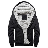 Wholesale Brand Clothing Mens Hooded Hoodies Men Sweatshirt Fashion Hoody Thick Warm Hoodie Cotton Slim Male Coat Outerwear Plus Size