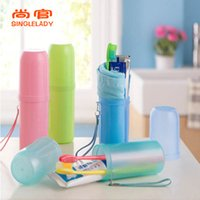 Wholesale Travel toothbrush box male and female toothbrush toothpaste Travel Set toothbrush holder couple necessary toothbrush barrel outdoor article