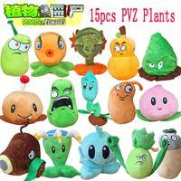 Wholesale Plants Vs Zombies Stuffed Plush Toys Doll PVZ cm Plants Soft Plush Toy for Kids Party Toys Styles to Optional