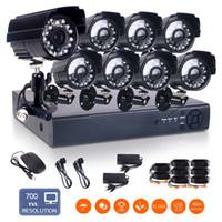 Wholesale 1 CMOS IP66 weatherproof CH H H DVR TVL IR Leds mm support onvif CCTV Outdoor Security Bullet Camera Kit motion detection