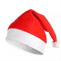 Wholesale Christmas Decoration Hats High grade Christmas Hat Santa Claus Hat Cute Children Kids Adults Woven X Mas Party Cosplay Hats BY DHl