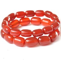 asian rice - A grade genuine top quality Red Agate Rice Potato Shape Nearly Round Natural red agate Bracelet
