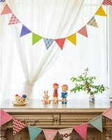 Wholesale Happy Birthday Color Flags Banners Children Birthday Party Decoration Hanging Paper Flags Pennant Festive Party Supplies Party Favors