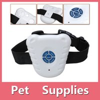 Wholesale Ultrasonic Sound Anti Bark Pets Dog Training Collar No Shock Collar Controller Stop Barking Device Shipping Free With DHL