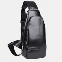 Wholesale Fashion Multifunctional Casual Leather Men Sport Single Shoulder Messenger Chest Bags Crossbody Travel Bag