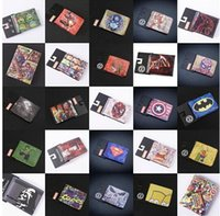 Wholesale DHL free The Avengers wallets purse superhero wallet Marvels wallet card Holder Cartoon students wallets Superman Batman Wallets D194