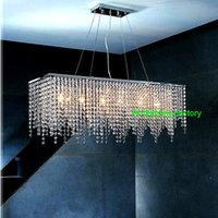 Wholesale Modern Crystal Chandelier Light for dining room led crystal chandeliers Square lamp rectangle living room lights curtain lights