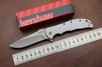 Wholesale 100 Real OEM Kershaw Tactical flipper folding knife Cr13Mov blade steel handle camping knife hunting pocket knife EDC tools
