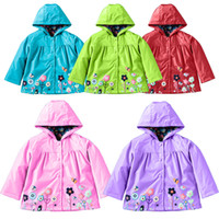 baby rain coats - Free DHL Raincoat for Kids Kids Fashion Baby Girls Clothes Winter Coat Flower Raincoat Jacket For Windproof Outdoor Children I201680803