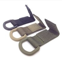 Wholesale 5pcs Outdoor Tactical D Ring Molle Webbing Buckle Hook Multifunction EDC Carabiner Nylon Work For Maximum Webbing mm