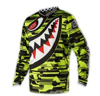 Wholesale Men s Motocycle Cycling Jersey Long Sleeved Breathable Club Bicycle Jersey Male Sportswear Plus Size Outdoor Clothing Sale