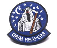 badge tape - 4 inch High quality D Patches THE Grim Reapers Embroidered patch with magic tape armband badge GPS garment accessories