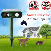 animal repellents - Solar Cat Repeller Garden Animal Chaser Scarer Ultra Sonic Deterrent Repellent Cat Dog Ultrasonic Solar Speakers B233