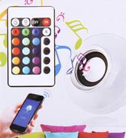 Wholesale NEW Wireless E27 Bluetooth Remote Control Mini Smart LED Audio Speaker RGB Color Light Warm Bulb Music Lamp