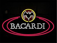bacardi green - 17 quot x14 quot NEW Bacardi Real Glass Neon Light Signs Bar Pub Restaurant Billiards Shops Display Signboards