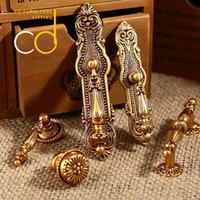 antique chinese clothing - Chinese retro furniture drawer handles European antique copper clothes cabinet cabinet handle cabinet door handle small handle