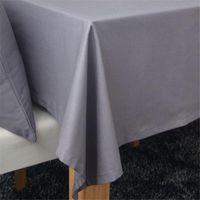 Wholesale 1pc Fashion solid color linen tablecloth tablecloths universal dust cover coffee table towel tablecloth picnic mat Hotsale cm