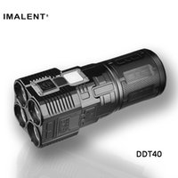 Wholesale Imalent DDT40 lm m OLED Disply Military Police LED Flashlight Spot Flood modes LED Flashlight Torch