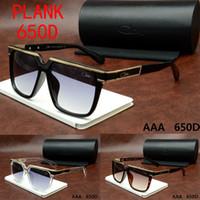 al por mayor las gafas de sol en caja escudo-Gafas de sol de diseño elegante gafas de sol de gafas de sol para las mujeres y hombres UV400 protección con gafas de sol-cazal650D caja original