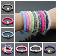 amethyst silver cuff bracelet - Hot Sale net Bracelets Shamballa CZ Disco Crystal Bracelet Fashion Magnetic Clasp Bracelet Wristband Jewelry