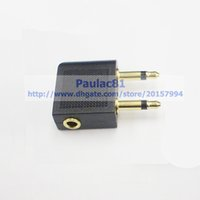 airline earphone adapter - GOLDEN Plated mm To x mm Airline Airplane Headphone Earphone Audio Adapter Converter