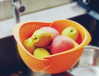 baskets suppliers - Modern Multifunctional movable wash dish cleaning cools draining basket using food grade PP material creative fruit basket supplier