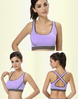 Wholesale Feitong Hot Colors Women Crop tops Racerback Padded Top Athletic Vest Gym Fitness Sports Yo ga Bra Stretch Crop tops