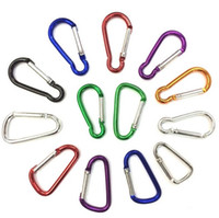 aluminum clasp - Carabiner buckle Snap Clip Hook Keychain Hiking backpack buckle Aluminum Convenient Hiking Camping Clip On Keychain Mixed Colors