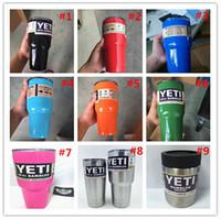 Wholesale Colorful Yeti oz oz oz Rambler Tumbler Bilayer Stainless Steel Insulation Cup OZ Cups Cars Beer Mug Large Capacity Mug Tumblerful